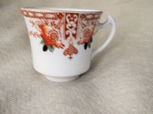 ANTIQUE IMARI ART NOUVEAUX HANDPAINTED CUP LONGTON WELLINGTON CHINA J H COPE